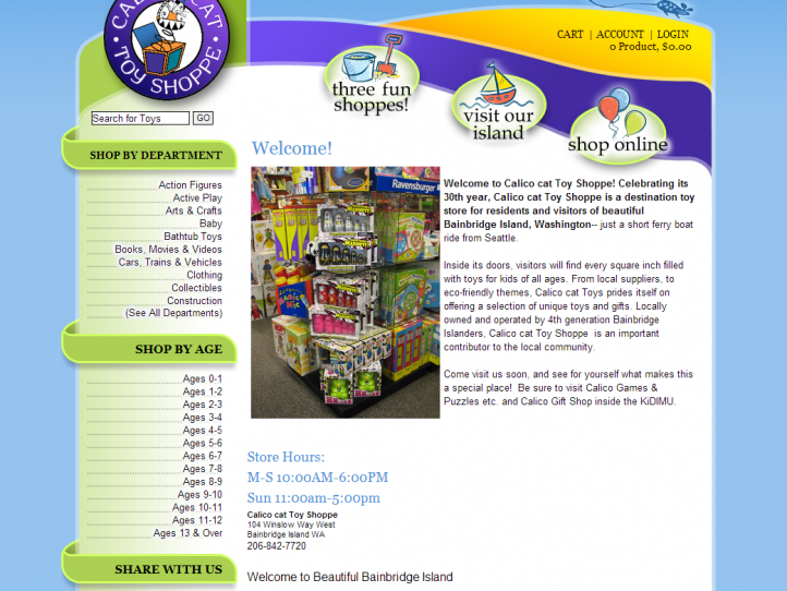 Specialty Toys Network – website services for toy stores and toy