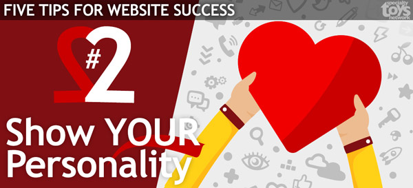 website tips #2 - show your personality